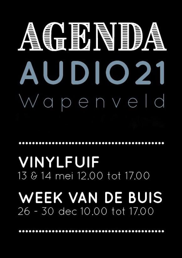 Audio21 Show agenda maart 2017