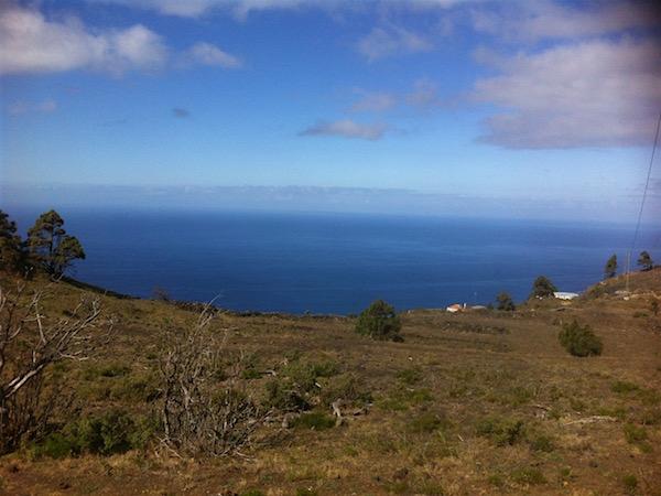 La Palma zon zee en geen strand