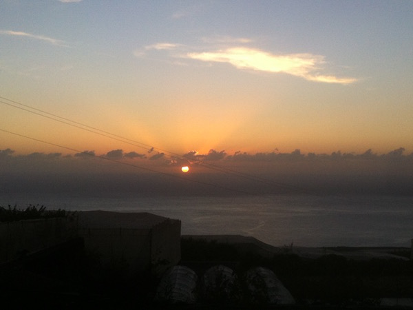 La Palma zonsondergang