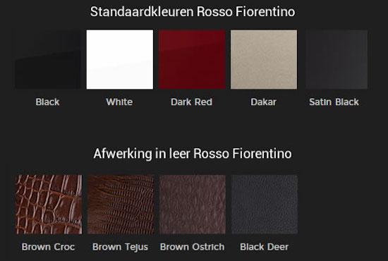Rosso fiorentino standard finishes