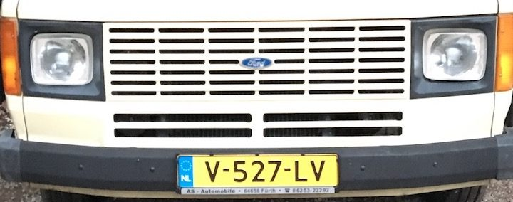 Ford Transit mk2 heeft kenteken